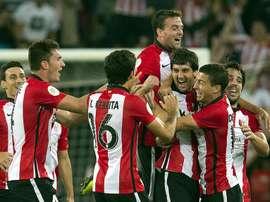 El de Mikel San José es uno de los mejores goles del pasado fin de semana. Twitter