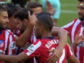 Atlético celebrate their first goal of the season. Screenshot/MovistarLaLiga