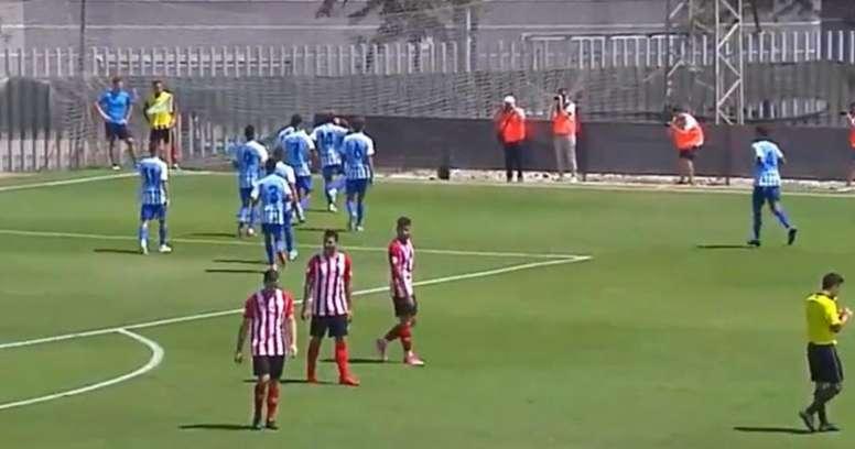 El Atlético Malagueño pone la directa. Captura/101TV