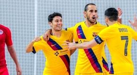 El Barça goleó al Ayat. FCBfútbolsala