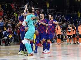 El Barça pasa a la Final Four. Twitter/FCBfutbolsala