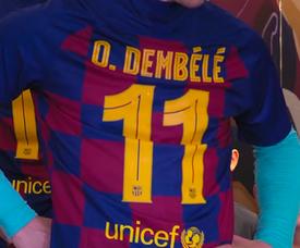 Bel gesto del Barcellona al Camp Nou. MovistarFutbol