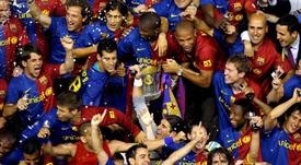 La señal que vaticina el triplete del Barça. EFE