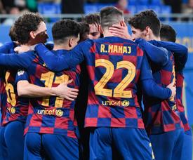 El Barça B derrotó en casa al Ejea. FCBarcelonaB