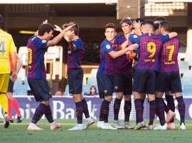 El Barcelona B está en buena forma. Twitter/FCBarcelonaB