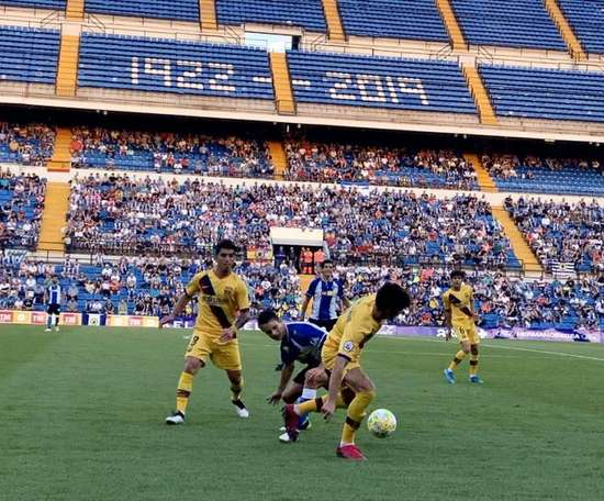 El Hércules se estrena con el Barça B. FCBarcelonaB