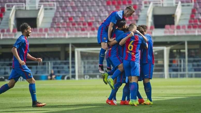 El Barça se ha impuesto por la mínima al City en la Youth League. FCBarcelona
