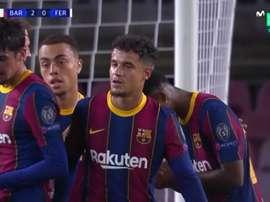 Grande giocata del Barcellona. MovistarLigadeCampeones