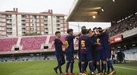 El Barcelona no perdonó en casa ante los griegos. Twitter/FCBMasia