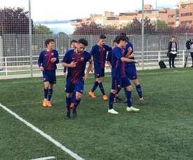 El conjunto azulgrana ganó por 4-0. FCBMasia