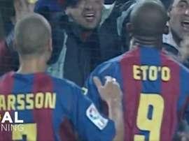 Eto'o superó a Casillas. FCBarcelona