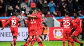 Amiri hizo el gol de la tranquilidad para el Bayer. Twitter/bayer04fussball