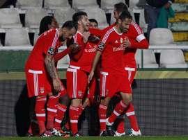 El Benfica sumó un triunfo clave para alcanzar el título. SLBenfica