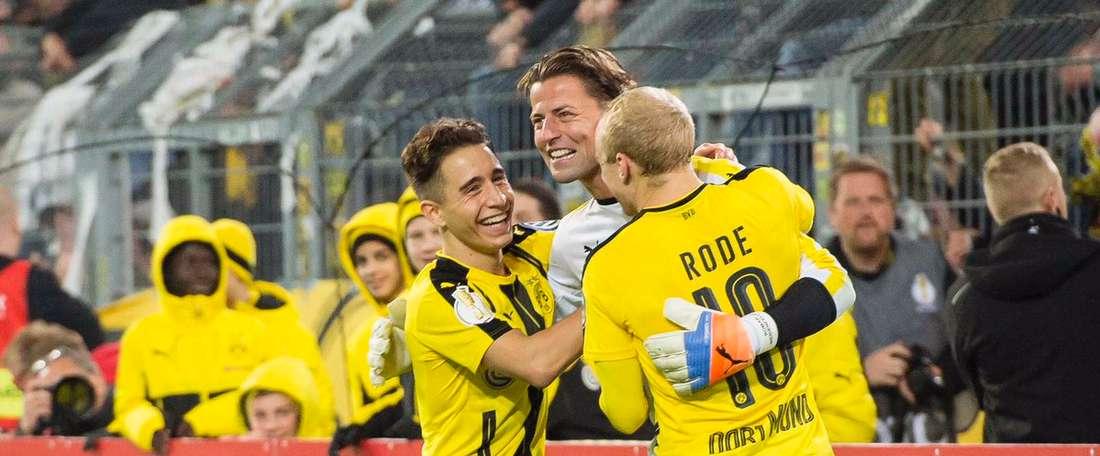 El Borussia Dortmund tuvo que recurrir a los penaltis para eliminar al Union Berlin. EFE