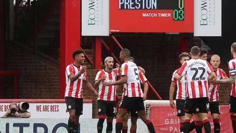 El Brentford se impuso por la mínima al Preston North End. Twitter/BrentfordFC