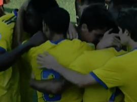 El Cádiz B se impuso por 0-2 al Unión Viera. Twitter/Cadiz_CFCantera