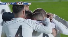El Castilla ganó con un gol de Cristo en el 93'. Captura/RealMadridTV