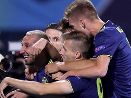 El Dinamo de Zagreb aplastó al Atalanta. GNKDinamo