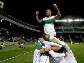 El Elche sufrió para clasificarse para la siguiente ronda de Copa del Rey. EFE/EPA