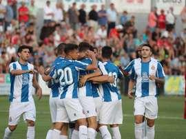 El Espanyol remontó en los últimos minutos. RCDEspanyol/Archivo