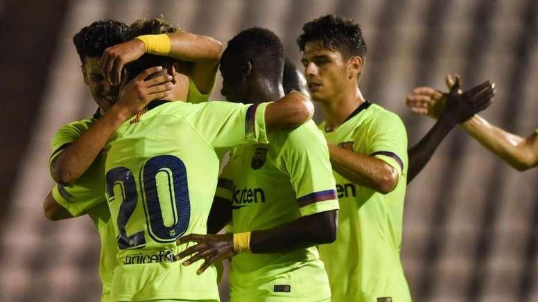 El Barcelona B se llevó el partido a domicilio. FCB
