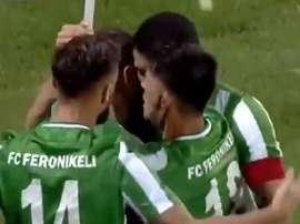 El Feronikeli estrena la épica de la Champions 19-20. Captura/RTK1