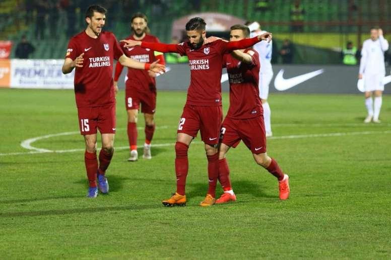 El FK Sarajevo, campeón tras la suspensión de la Liga de Bosnia. Twitter/FK_Sarajevo