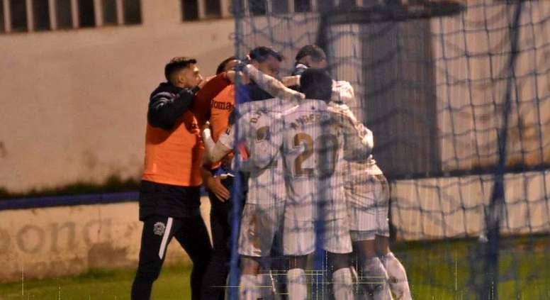 Un gol de Héctor en el 118 dio el pase al Fuenlabrada. Twitter/CFuenlabradaSAD