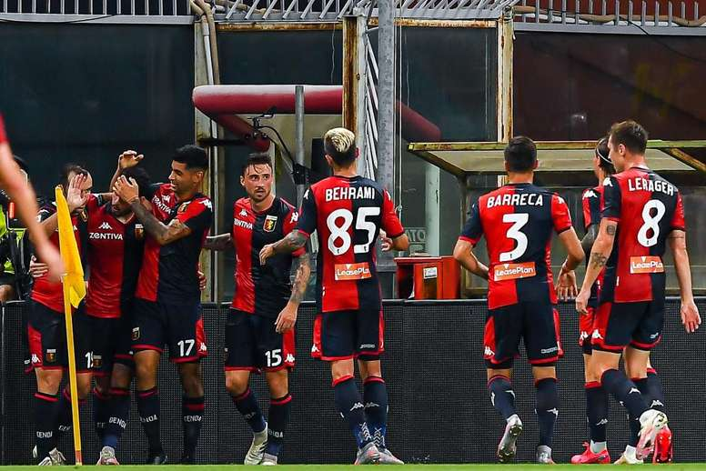 The Genoa players have tested positive again. EFE