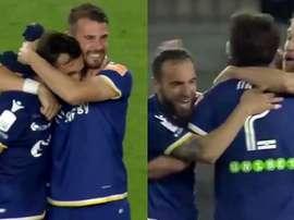 El Hellas Verona regresa a la Seria A una temporada después. Captura/DAZN