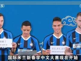 A divertida mensagem da Inter de Feliz Ano Novo chinês. Captura/Inter