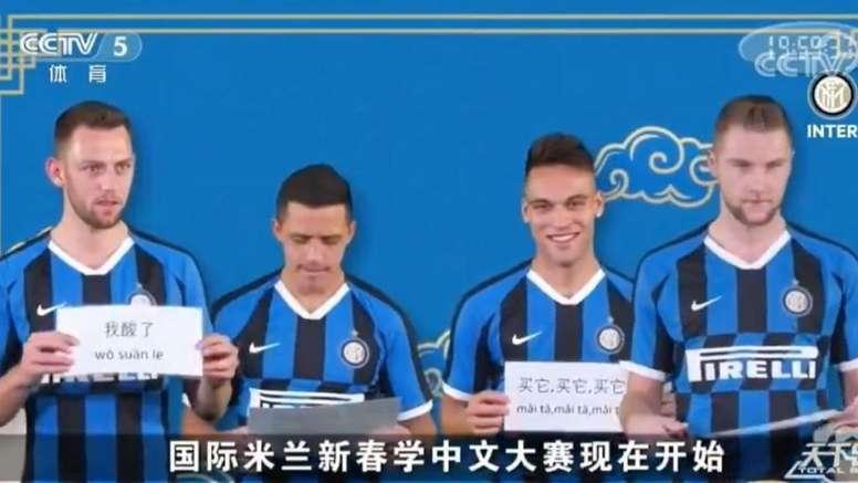 La divertida felicitación del Inter del año nuevo Chino. Captura/Inter