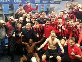 They won 2-1. Twitter/fc_khimki