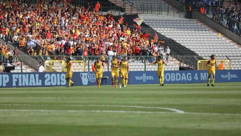 El Mechelen logró un título histórico. Twitter/kvmechelen
