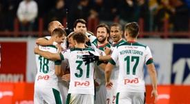 Lokomotiv passa por cima do Zenit. Twitter/fclokomotiv
