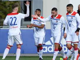 El Lyon empató a dos con el Ajax, y luego le ganó 6-5 en penaltis. Twitter/OL
