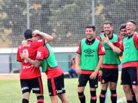 El Mallorca venció por la mínima al Deportivo Aragón. RCDMallorca
