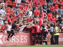 El Mallorca consiguió los tres puntos. Twitter/JoanSastre