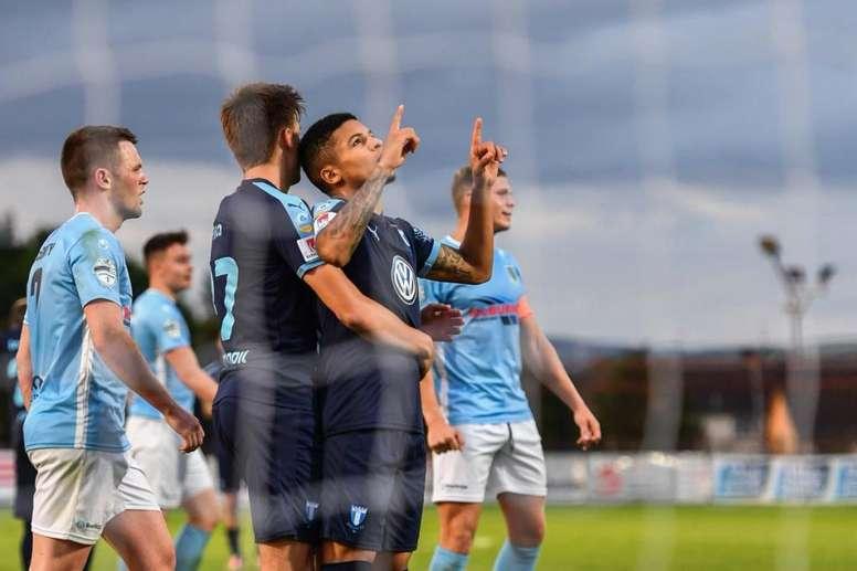 El Malmö no tuvo piedad del Ballymena United. Twitter/Malmo_FF