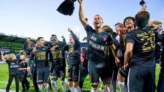 Midtjylland have won the league. Twitter/fcmidtjylland
