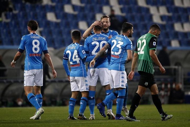 El Nápoles se lleva el amistoso frente al Pro Vercelli. EFE