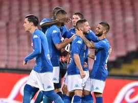 O Napoli bateu a Atalanta por 3-1. SSCNapoli