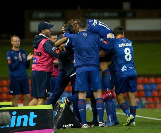 Newcastle Jets have confirmed a player has got corona. Twitter/NewcastleJetsFC