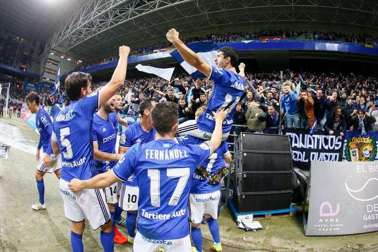 El Oviedo se reencontró con el triunfo en la visita del Nàstic. RealOviedo