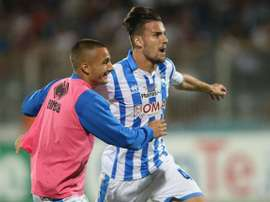 Los jugadores del Pescara celebran el ascenso. Pescara