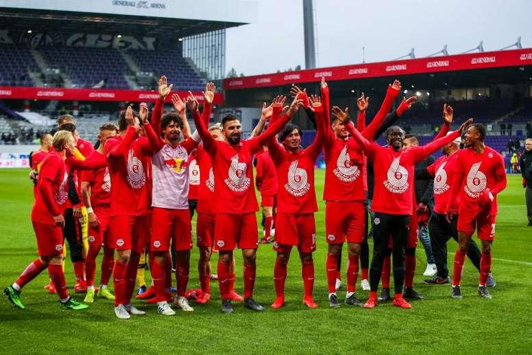 El RB Salzburgo esquivará la fase previa de la Champions. Twitter/RedBullSalzburg