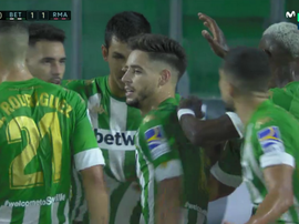 Betis' celebrate after scoring. Screenshot/MovistarLaLiga