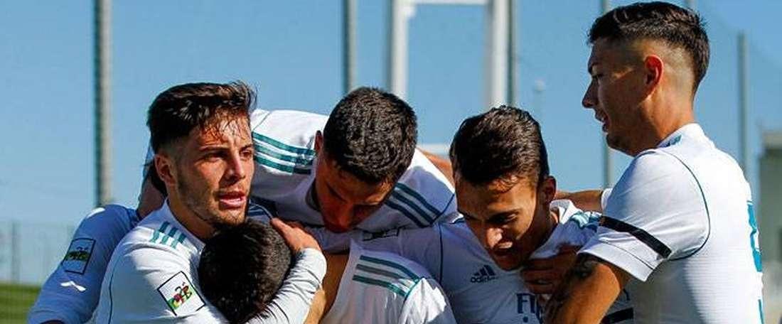 El Castilla empató a uno ante el Unión Adarve. RealMadrid