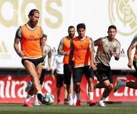 Real Madrid se prepara pensando no duelo desta quinta-feira contra o Getafe. Twitter/RealMadridCF