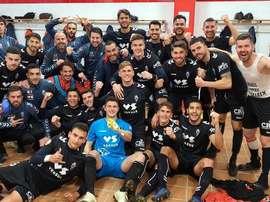 El Murcia sigue su camino ascendente. Twitter/realmurciacfsad